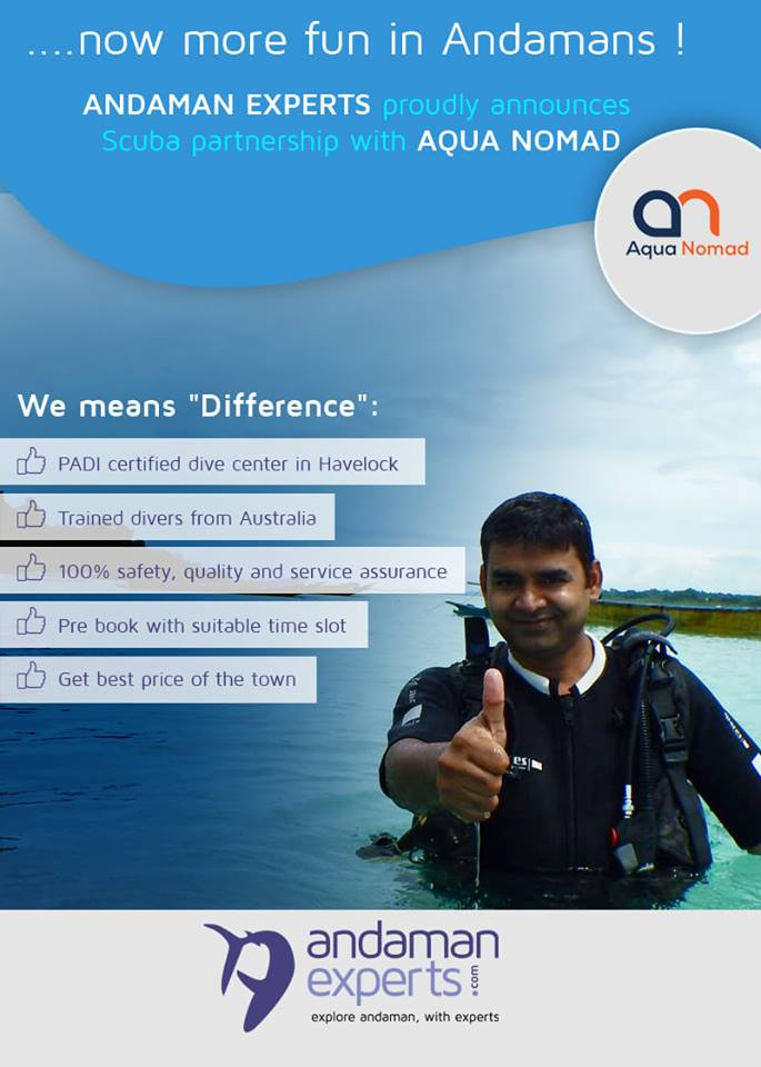 AndamanExperts partenrs with Aqua Nomad for Scuba Diving